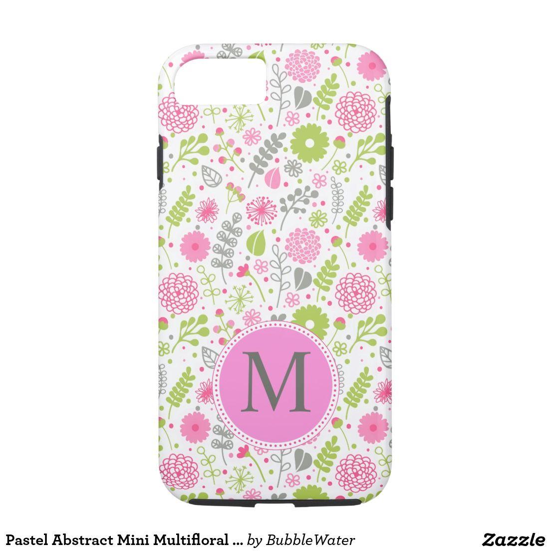 Pastel abstract mini multifloral monogram iphone 7 case