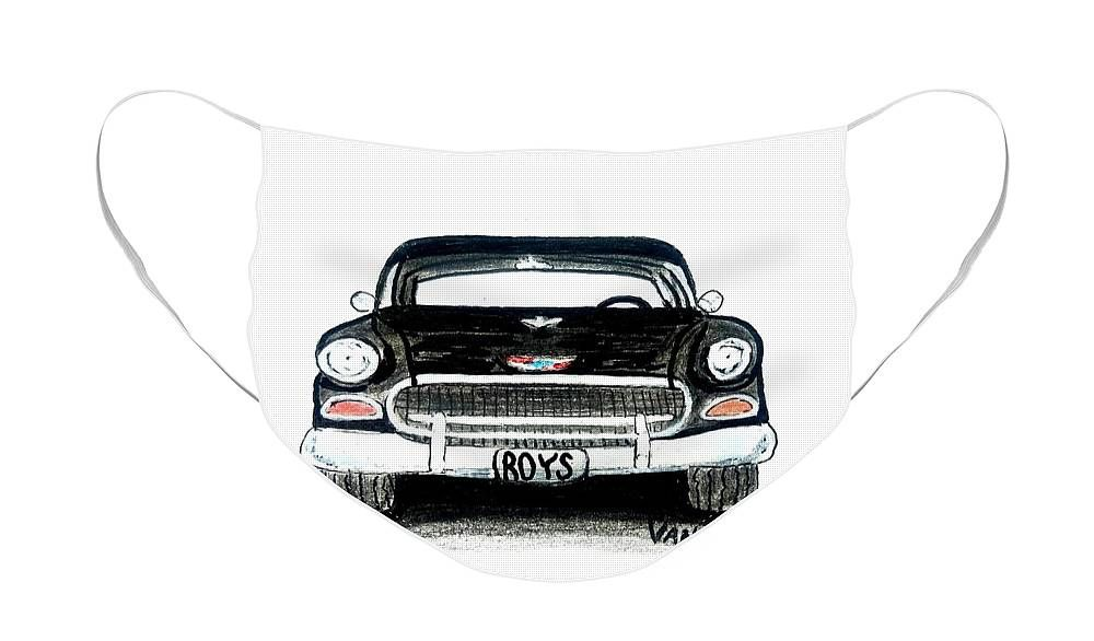 1955 Chevy Bel Air Front View Face Mask For Sale By Scott D Van