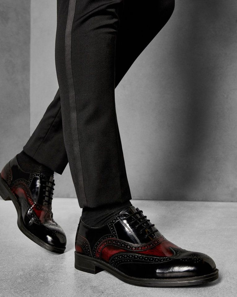 These Dark Red Brogues Are So Stylish!