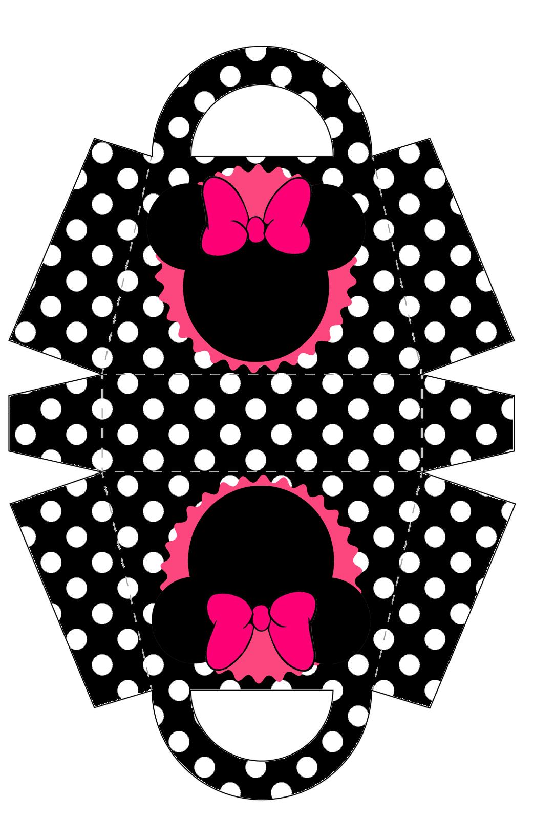 Minnie: Bolso para Imprimir Gratis.   коробки   Pinterest   Imprimir ...