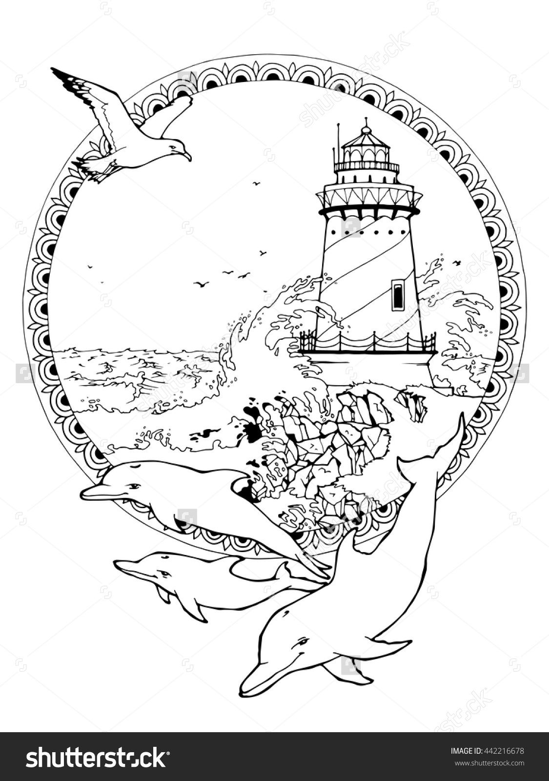Image Result For Lighthouse Coloring Pages
