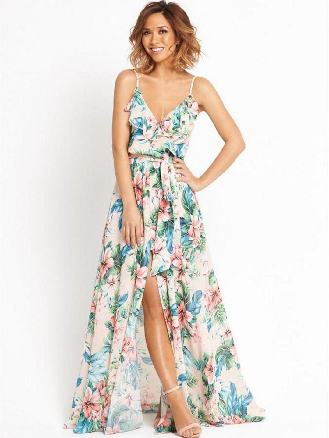 beautiful long floral bridesmaid dresses design ideas new