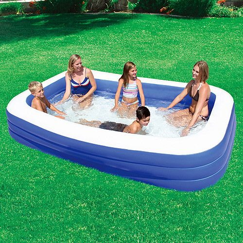 My Sunshine 120 X 72 X 22 Deluxe Family Inflatable Swimming Pool 24 97 Walmart Com Inflatable Swimming Pool Portable Swimming Pools Small Swimming Pools