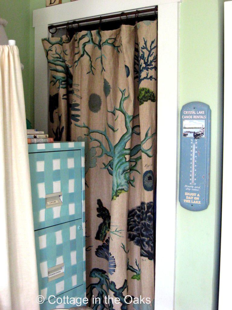Curtains as closet doorsplacing louver doors diy homes