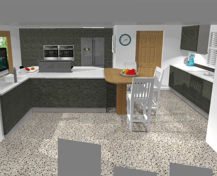 Here Is An Example Of A 3D Design That Was Designed For One Of Our Endearing 3D Design Kitchen Inspiration