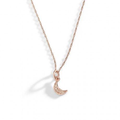 14k rose gold diamond necklace 225 diamond moon necklace 14k