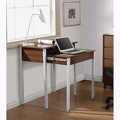 computer desk space saving desks retract student dorm office furniture compact