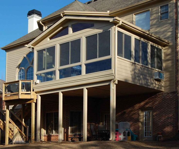 Second story a frame enclosed deck designs yahoo image for Enclosed deck plans