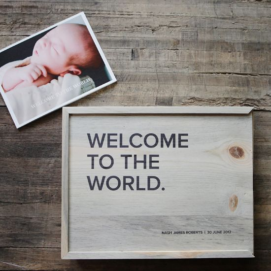 Customizable Wooden Photo Box Wooden Photo Box Wooden Boxes