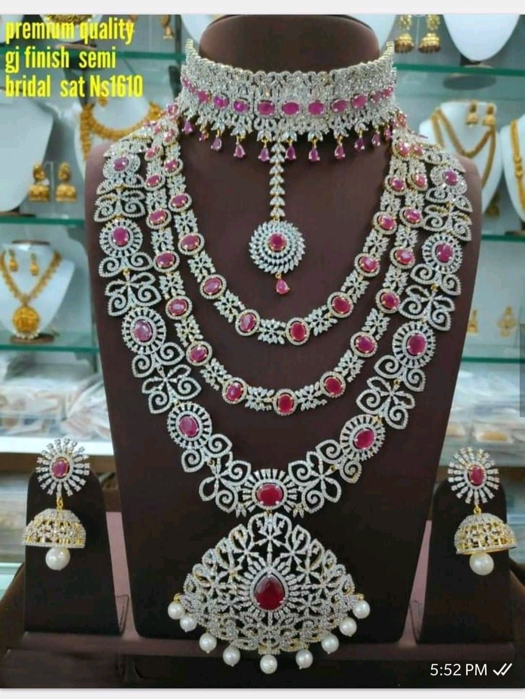 Bridal Set For Rent In 2020 Bridal Sets Bridal Crochet Necklace