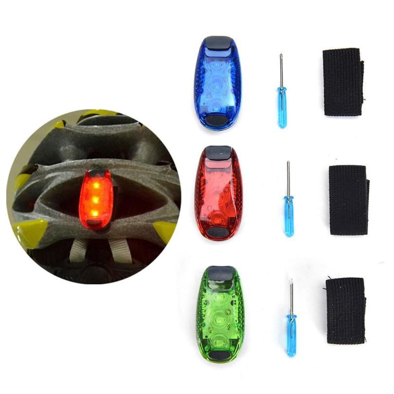 LED Bike Bicycle Rear Tail Light Clip On Jogging Cycling Safety Warning Lamp
