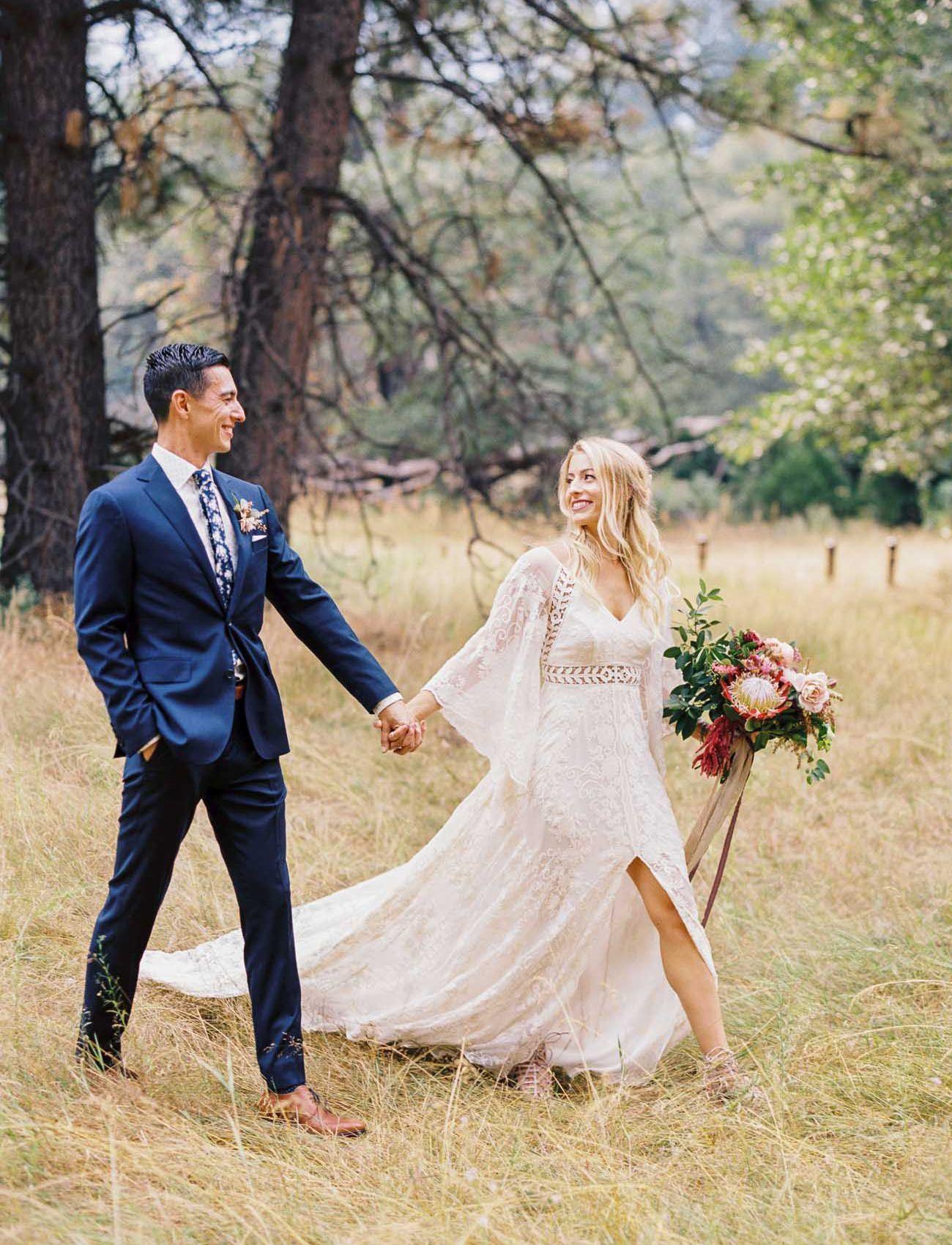 Nature inspired boho wedding in yosemite national park wedding
