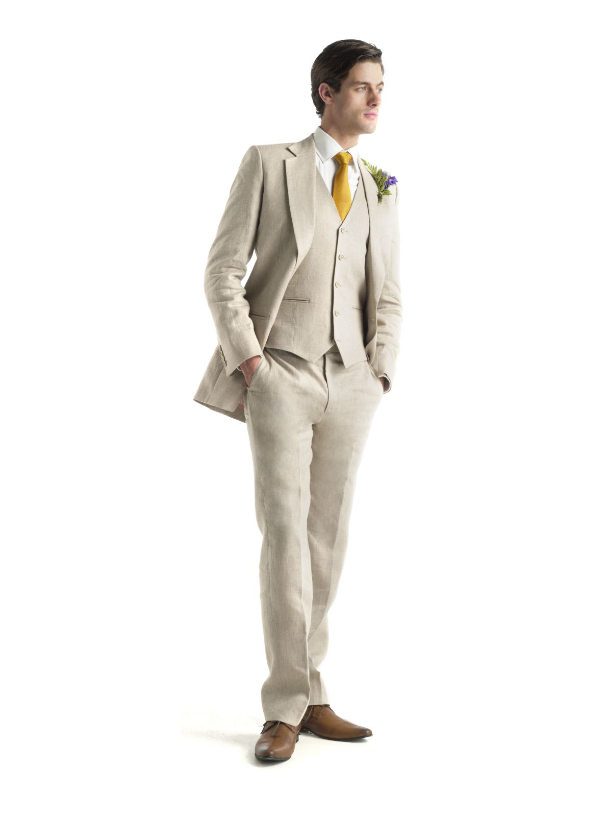 Linen Three Piece From A Suit That Fits | Linen suits | Pinterest ...