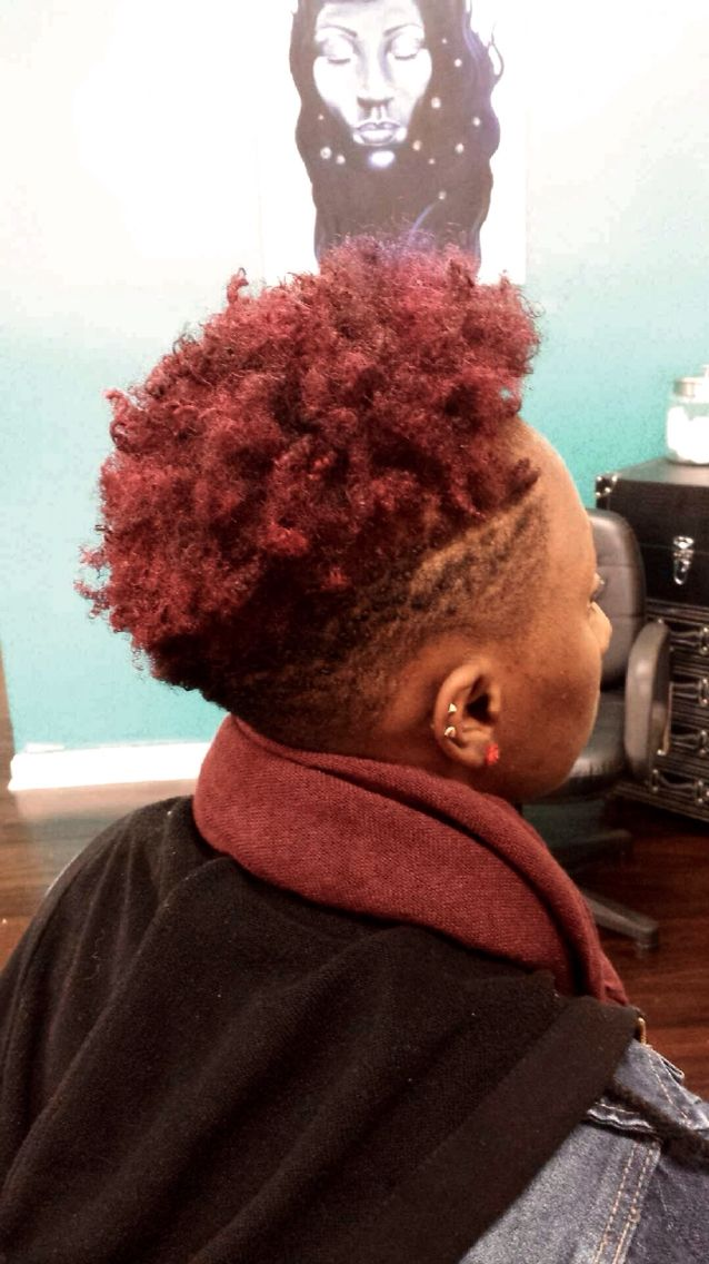 #Color #NaturalHair #TaperedCut