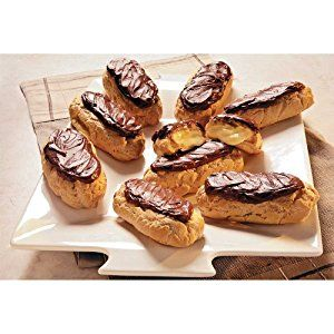 with Pastry:  June 22 is National Chocolate Eclair Day. Sinfully delicious crispy light pastry shells packed full of cool butter-sweetened custard cream and covered with a thick layer of smooth chocolate fudge.  http://www.farmersmarketonline.com/pastry.htm