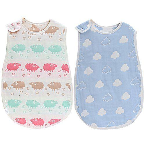 7352ce0aa33 KF Baby 2pc Muslin Sleep Sack Wearable Blanket Sleeping Bags Infants Night  Wrap  26 99 -