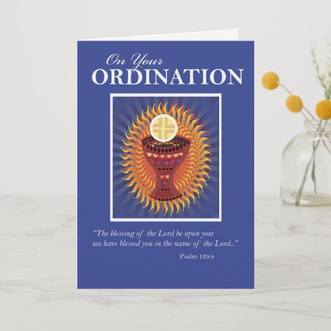Ordination Congratulations Host and Cup Card