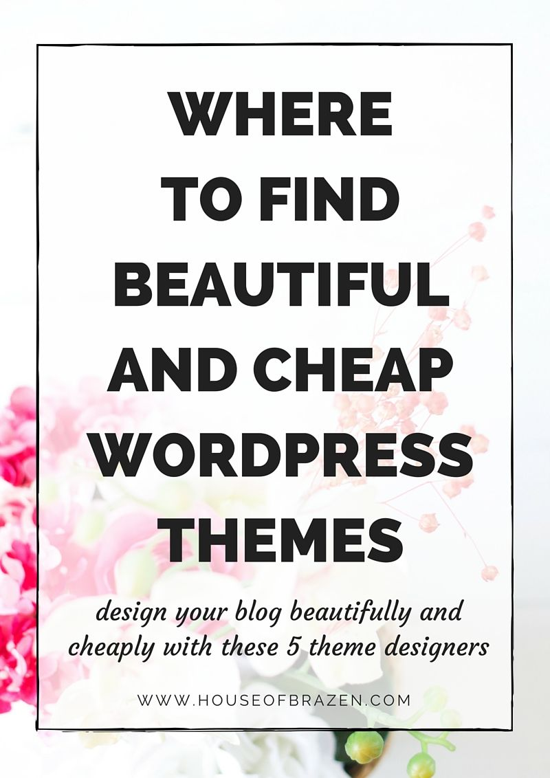 New blogger? If you want to keep your expenses low but still find a beautiful wordpress theme, check out these themes for wordpress created by 5 designers!