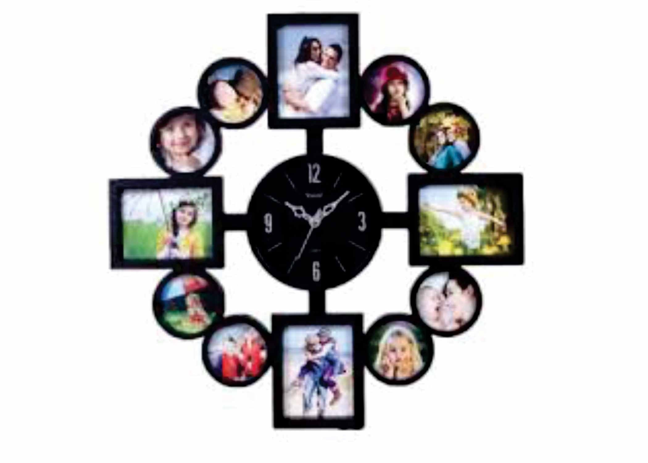 Personalized wall clock 12 pic collage frame valentines day personalized wall clock 12 pic collage frame amipublicfo Images