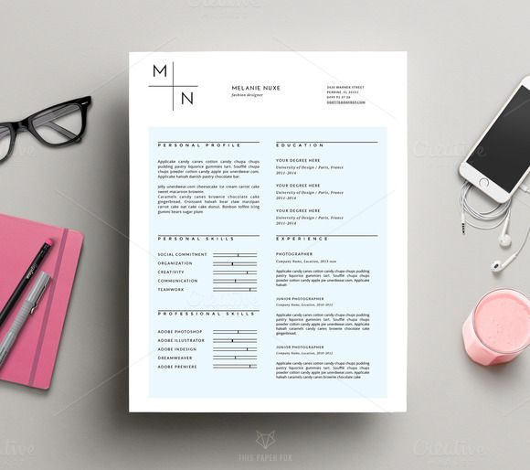 Modern CV Template for MS Word Modern cv template, Cv template - template resume microsoft word