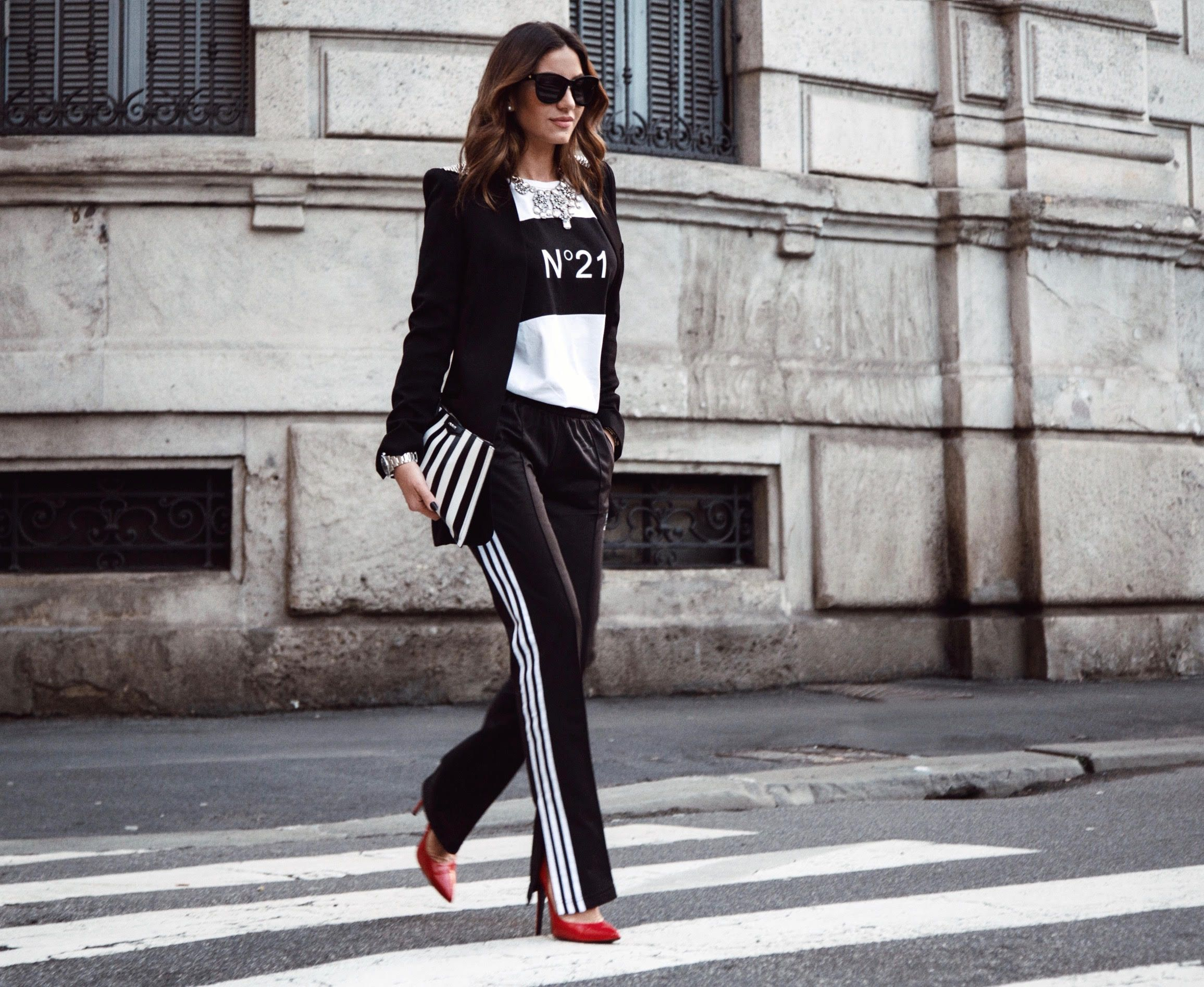 pantaloni adidas nero