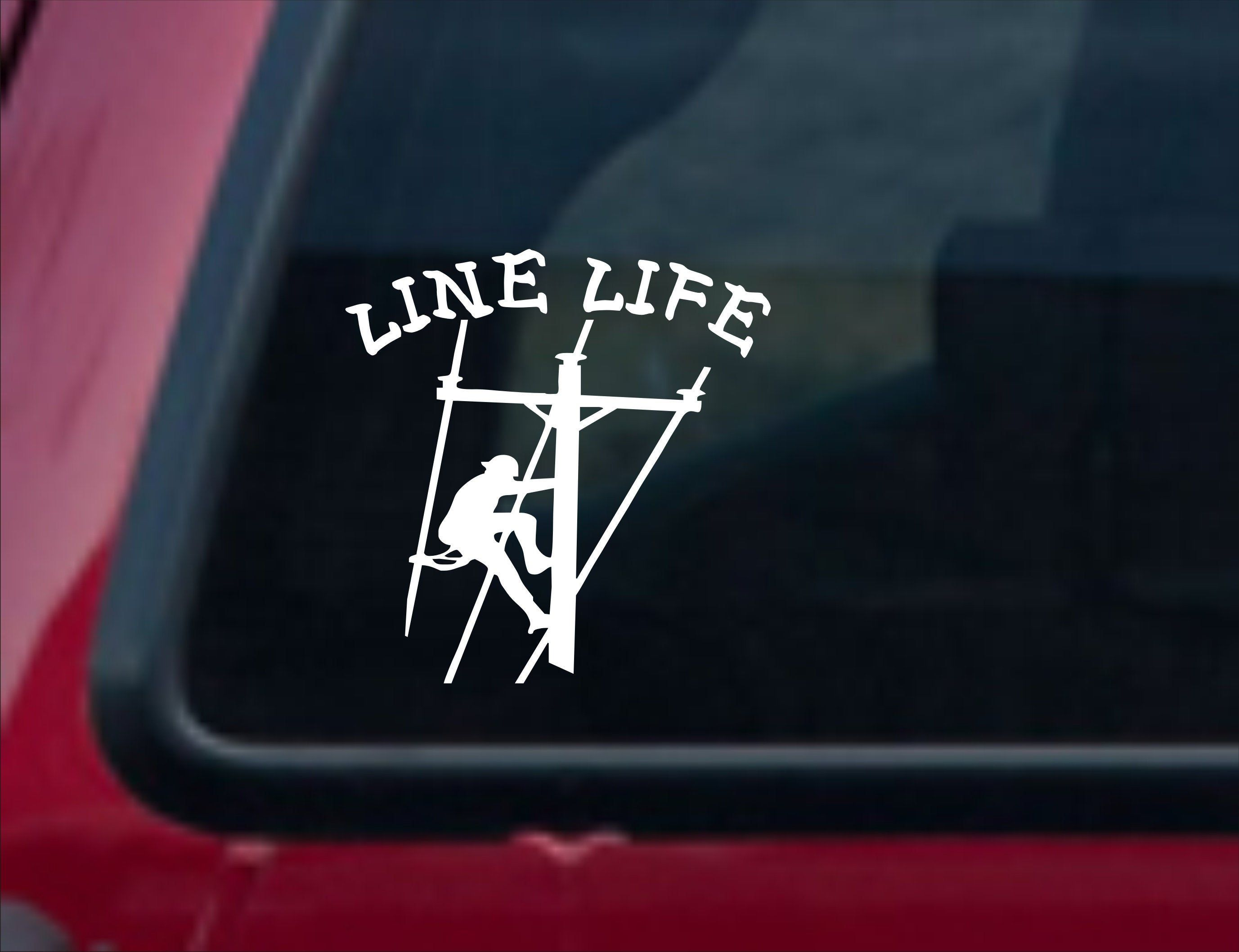 Line Life Lineman Vinyl Decal Line Life Vinyl Sticker Line Etsy Vinyl Decals Lineman Truck Stickers [ 2117 x 2754 Pixel ]