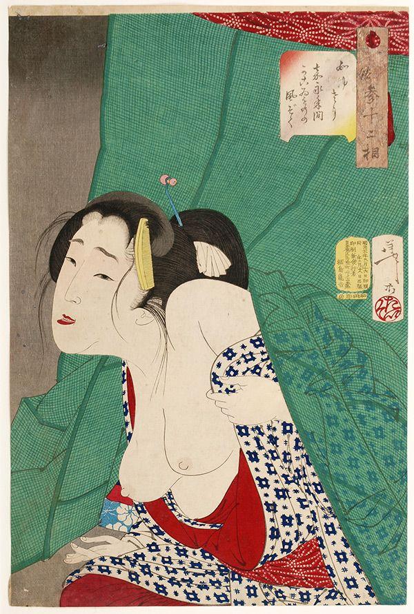 Tsukioka Yoshitoshi, 32 Aspects of Customs and Manners - Itchy Type