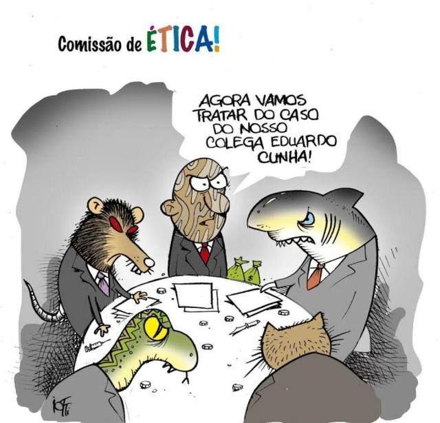 Que comissão de ética.?.. Fora com todos os políticos corruptos e indiciados, qualquer que seja sua cor política.!...