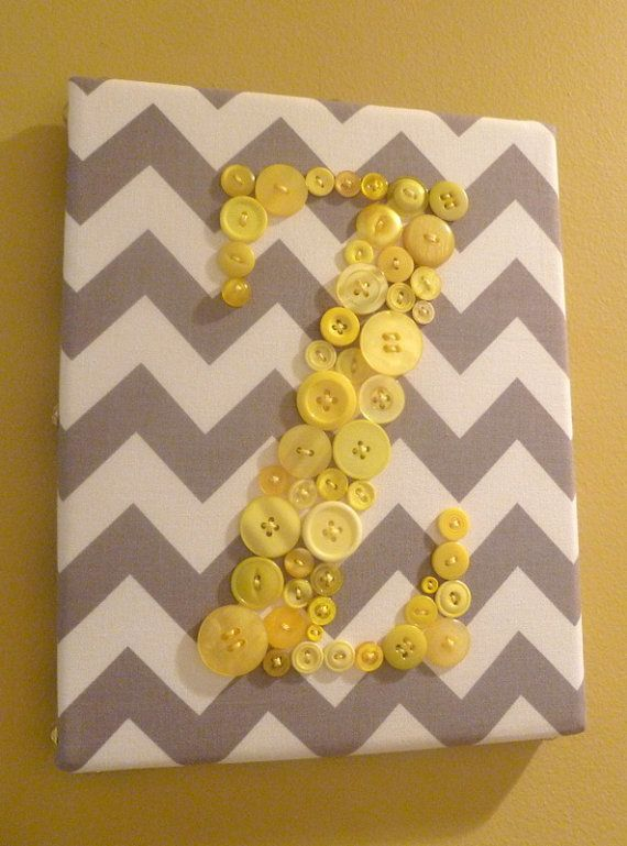 Nursery Wall Art Button Letter Z by letterperfectdesigns on Etsy ...