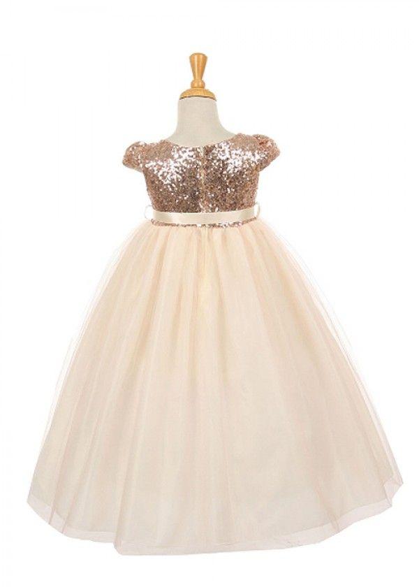 c43d6bafae2 Blush Stunning Sequin Flower Girl Dress
