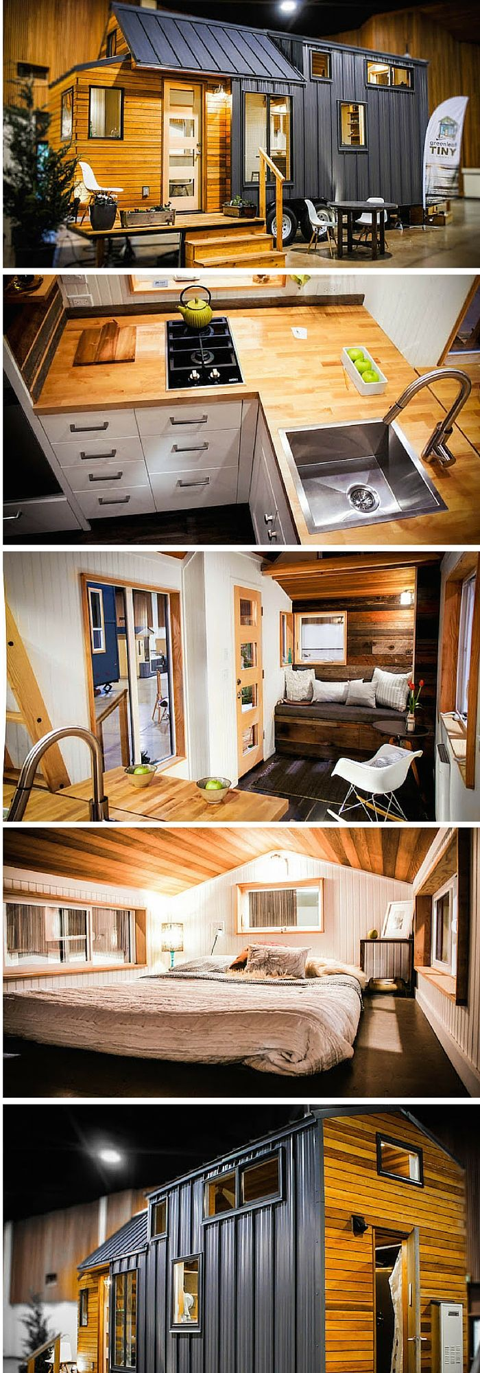 The 204 sq ft Kootenay tiny house on wheels from Greenleaf Tiny ...