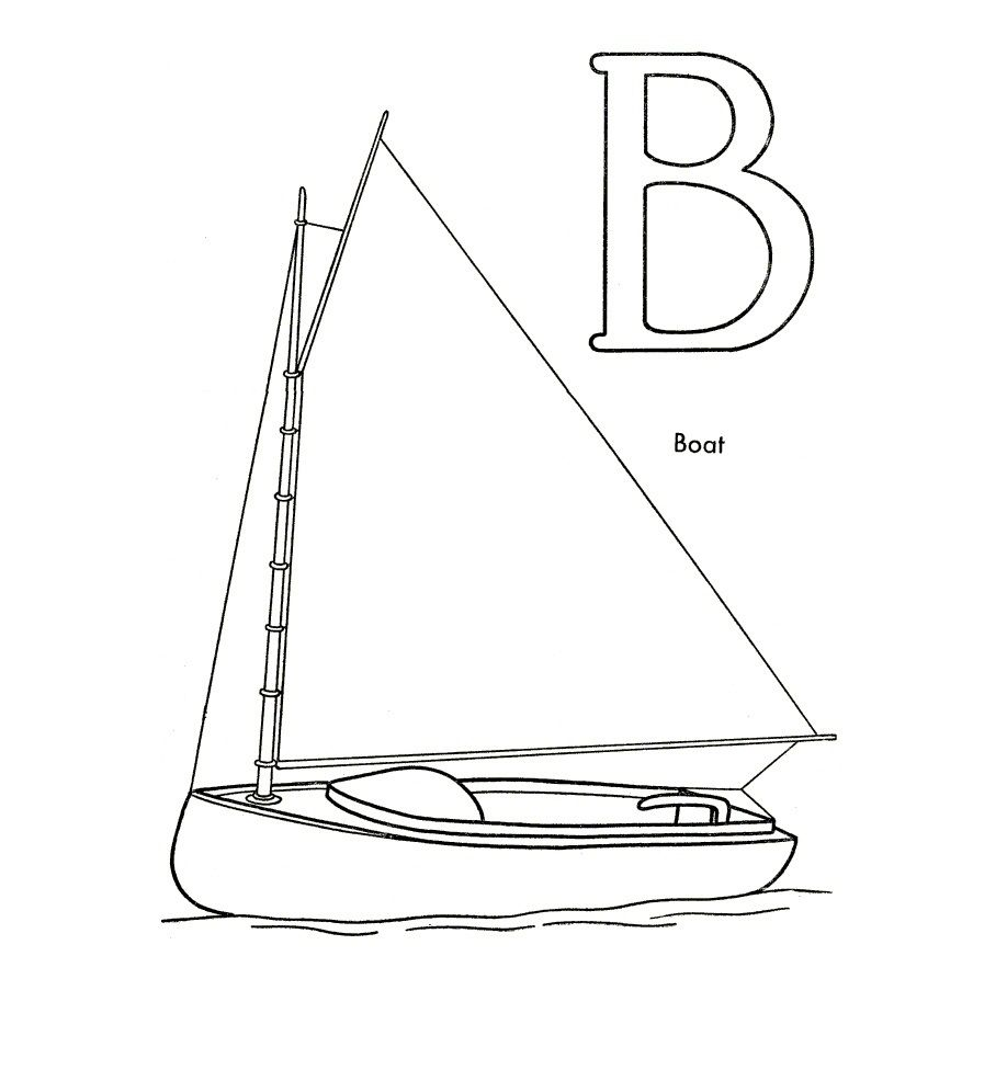 Coloring Page Boat | 교통기관 | Pinterest
