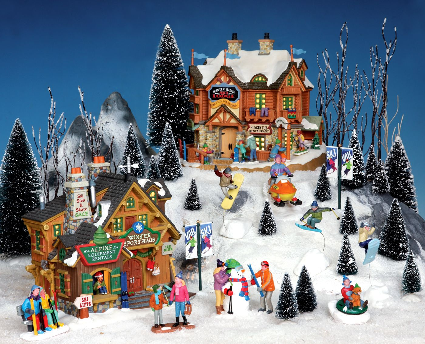 Christmas Village Ski Lift For Sale.Lemax Vail Village Somehow I Want To Add This To My Lemax