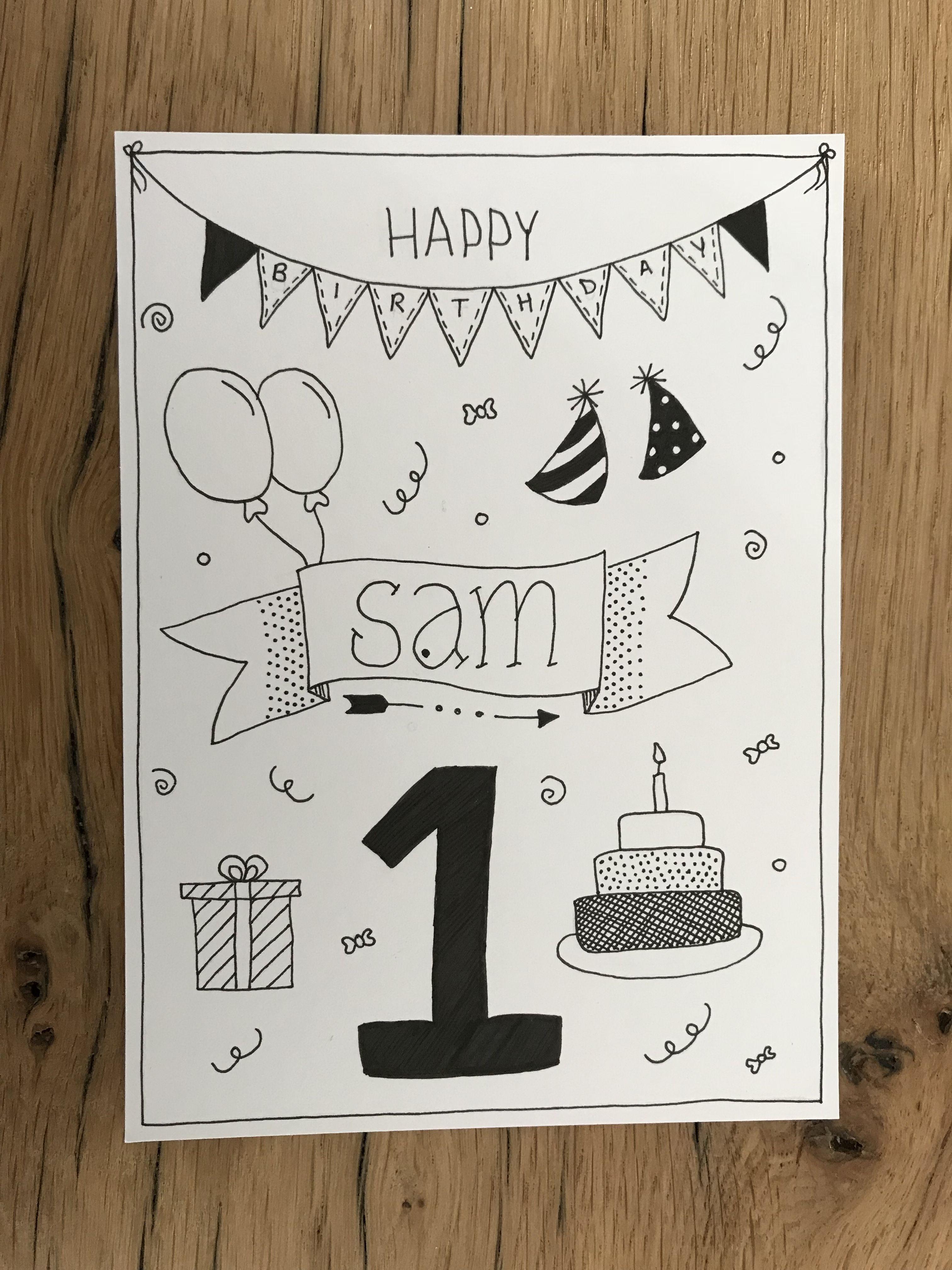 Made By Mariska Geburtstagskarte Diy Geburtstagskarte