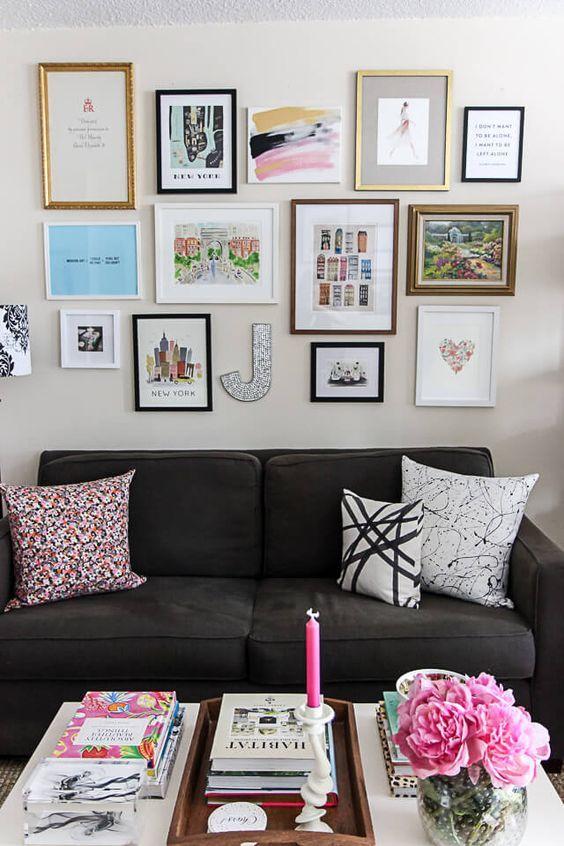 Gallery Wall, Small Space Studio Apartment Decorating | York Avenue Blog |  York Avenue Blog | Pinterest | Studio Apartment, Gallery Wall And Small  Spaces