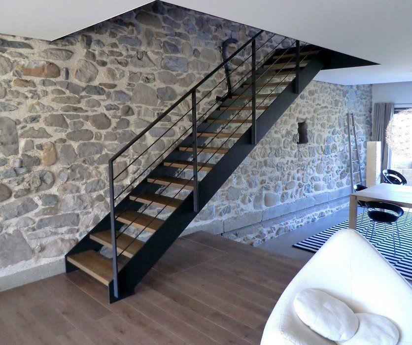 escalier contemporain loft escaliers limons m tal sur mesure escalier pinterest lofts. Black Bedroom Furniture Sets. Home Design Ideas