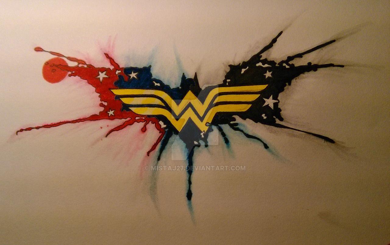 Wonder woman batman tattoo by on for Female batman tattoos