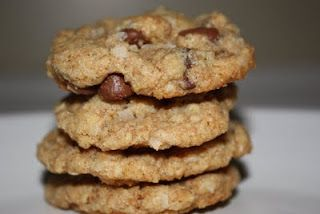 Paradise Bakery Chipper cookies. Apparently they changed the recipe, they used to use  corn flakes... I know cuz I used to prep for them when I worked there 20 years ago. :D They were always delicious. :D