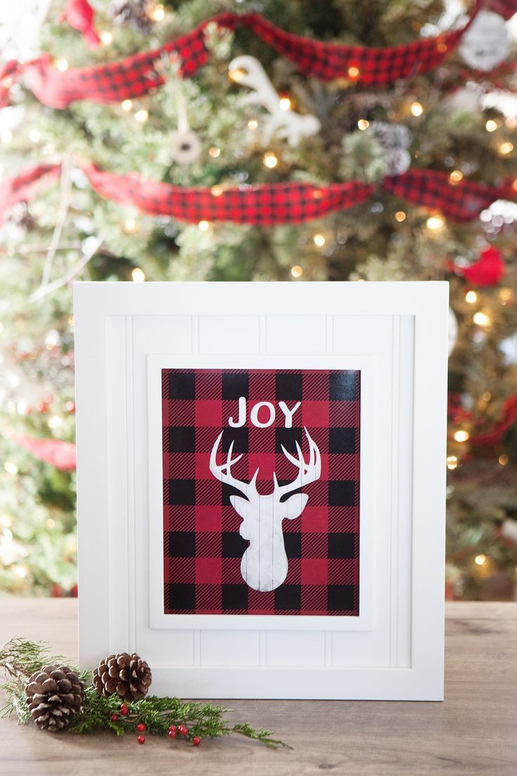 Free buffalo check plaid christmas printables add a little rustic outdoorsy flair to your holiday decor with this free buffalo check solutioingenieria Choice Image