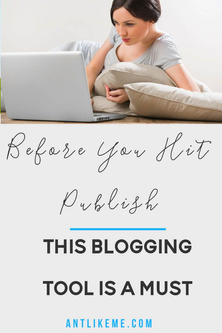 Dont hit publish until you check with this free writing