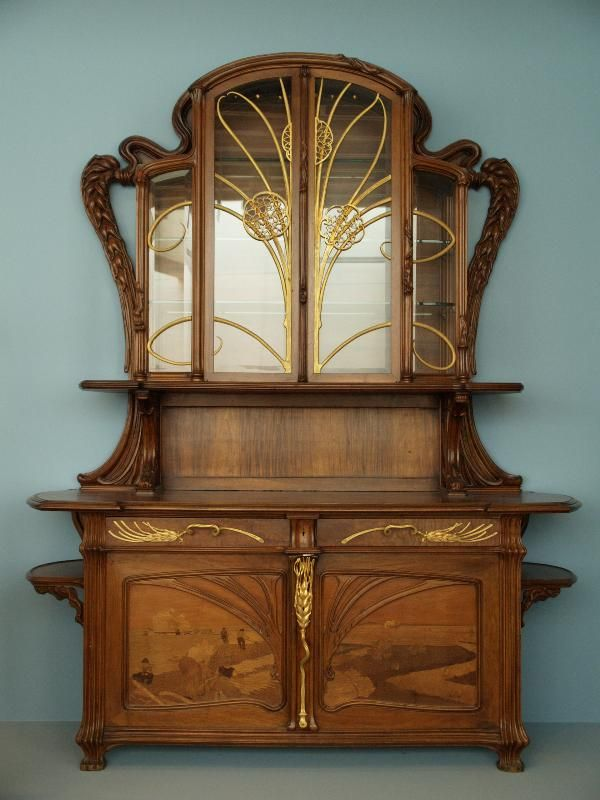 1903, Virginia Museum of Fine Arts, Richmond. Art Nouveau FurnitureAntique  ... - Sideboard, Emile Galle, Ca. 1903, Virginia Museum Of Fine Arts