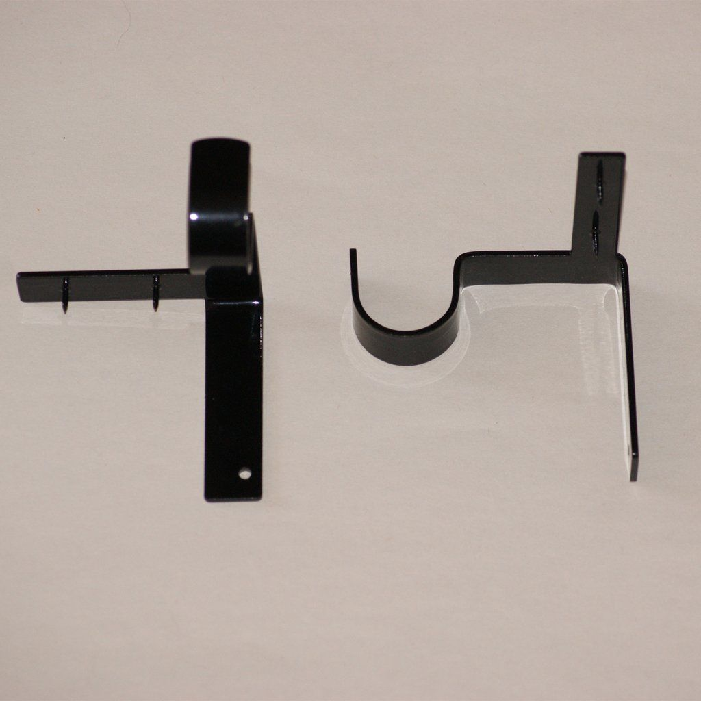 Single Curtain Rod Brackets Hanging Curtain Rods Hanging