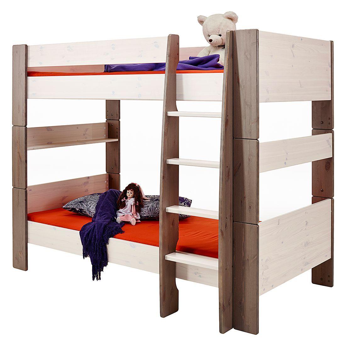 etagenbett steens for kids kiefer massiv white washstone steens jetzt bestellen - Coolste Etagenbetten