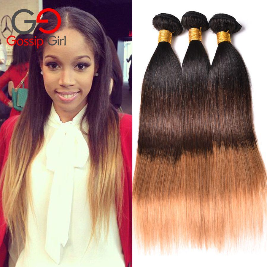 7a ombre brazylijski włosy 1b/4/27 prosto ludzki włos