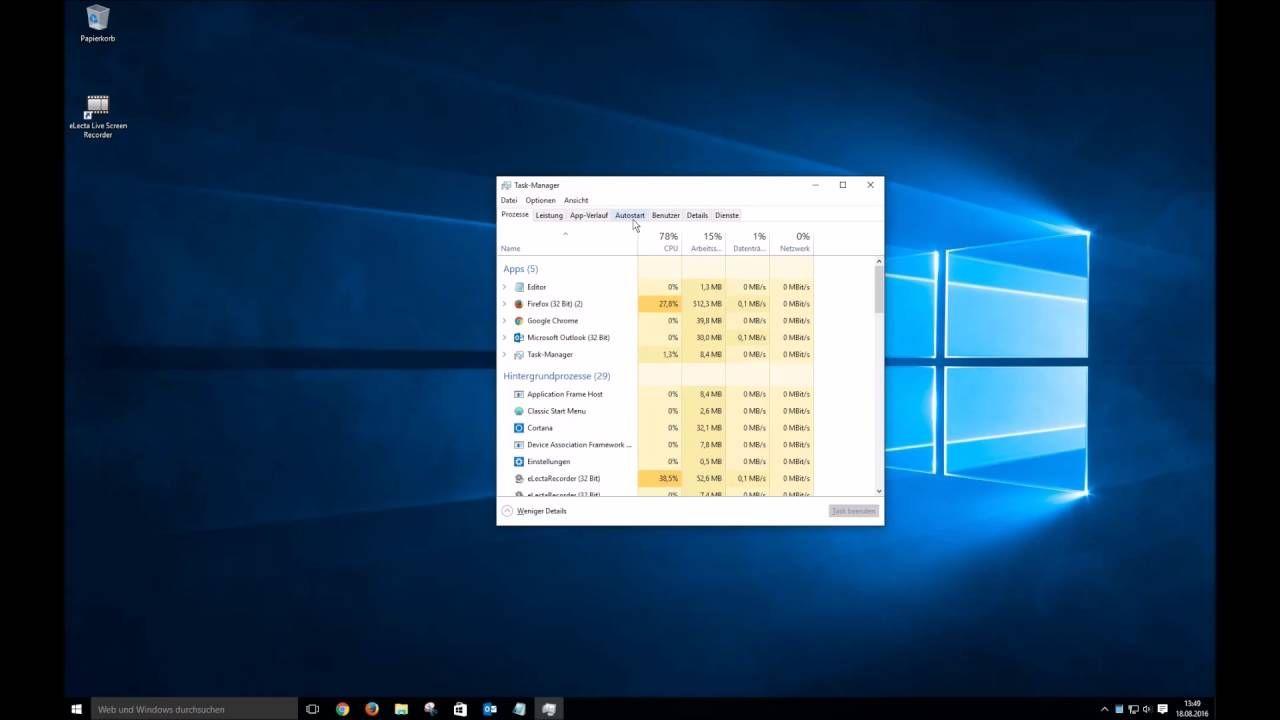 Windows 10 Mit Dem Task Manager Schneller Machen Windows10 Videoanleitungen