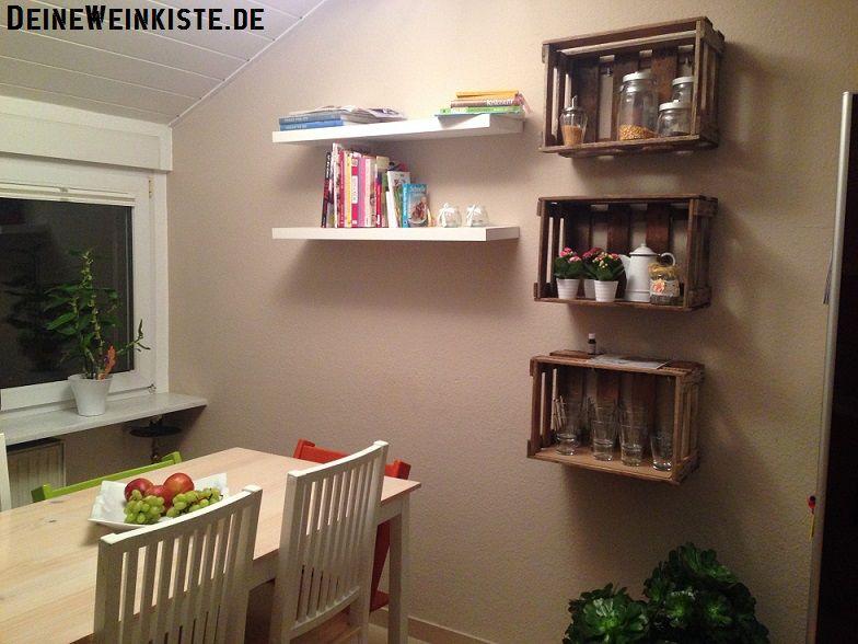 Küchen Hängeregal 11 11 2016 tila aus mannheim hängeregal aus drei weinkisten