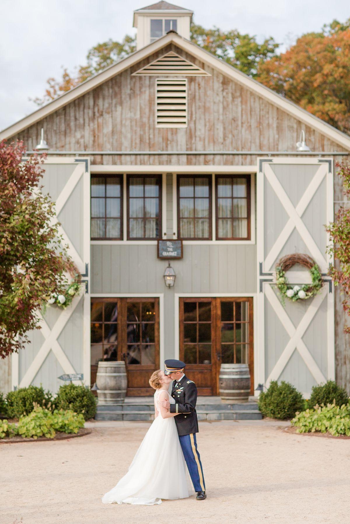 Elegant Farm Barn Wedding Venue In Virginia Fall At Pippin Hill Vineyard