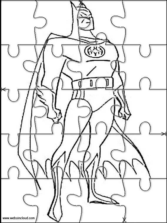 Puzzles Rompecabezas recortables para imprimir para niños Batman 75 ...
