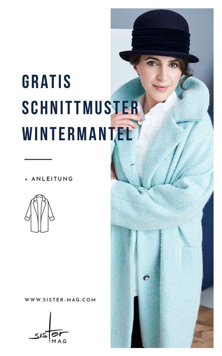 44 Hellblauer Mantel mit großem Kragen - sisterMAG