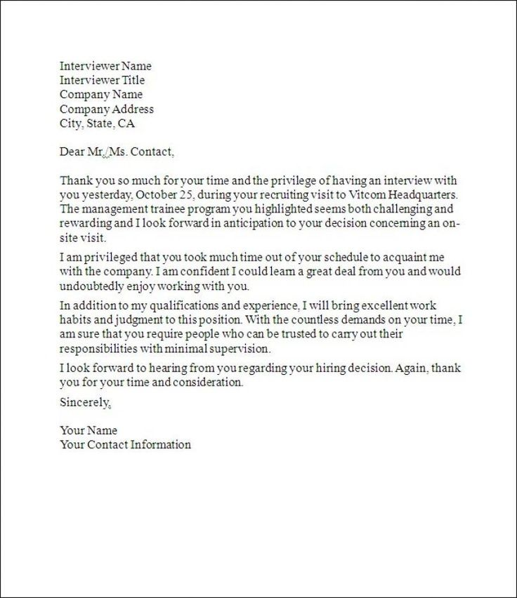 Follow Up Thank You Letter - Sample thank you letter with - what goes in a cover letter